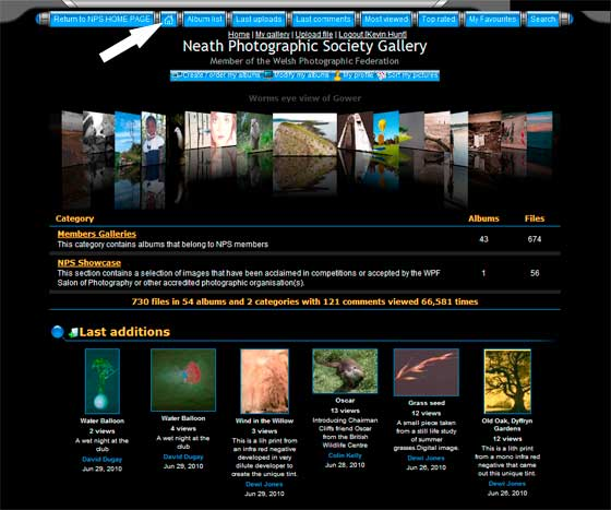 image of NPS Gallery Home Page